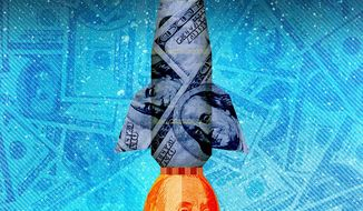 Sky Rocketing Inflation Illustration by Greg Groesch/The Washington Times