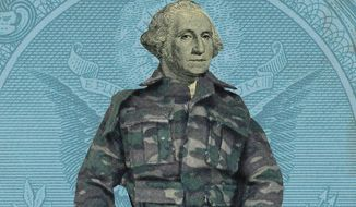 Competitive Military Salaries Illustration by Linas Garsys/The Washington Times