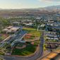 The campus of Dixie State University in St. George, Utah, is shown in their undated aerial photo. Photo courtesy Dixie State University.