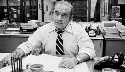 "Ed Asner made a quick transition from ""The Mary Tyler Moore Show"" to city editor for the fictitious Los Angeles Tribune on ""Lou Grant."" (Associated Press)"