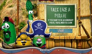"The Talk Like a Pirate section of the Veggie Tales Web site gives pronunciation help, definitions and a sound bite  of expressions such as ""Ahoy there."""