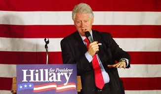 Bill Clinton's second public schlonging of his wife. (Associated Press/File)