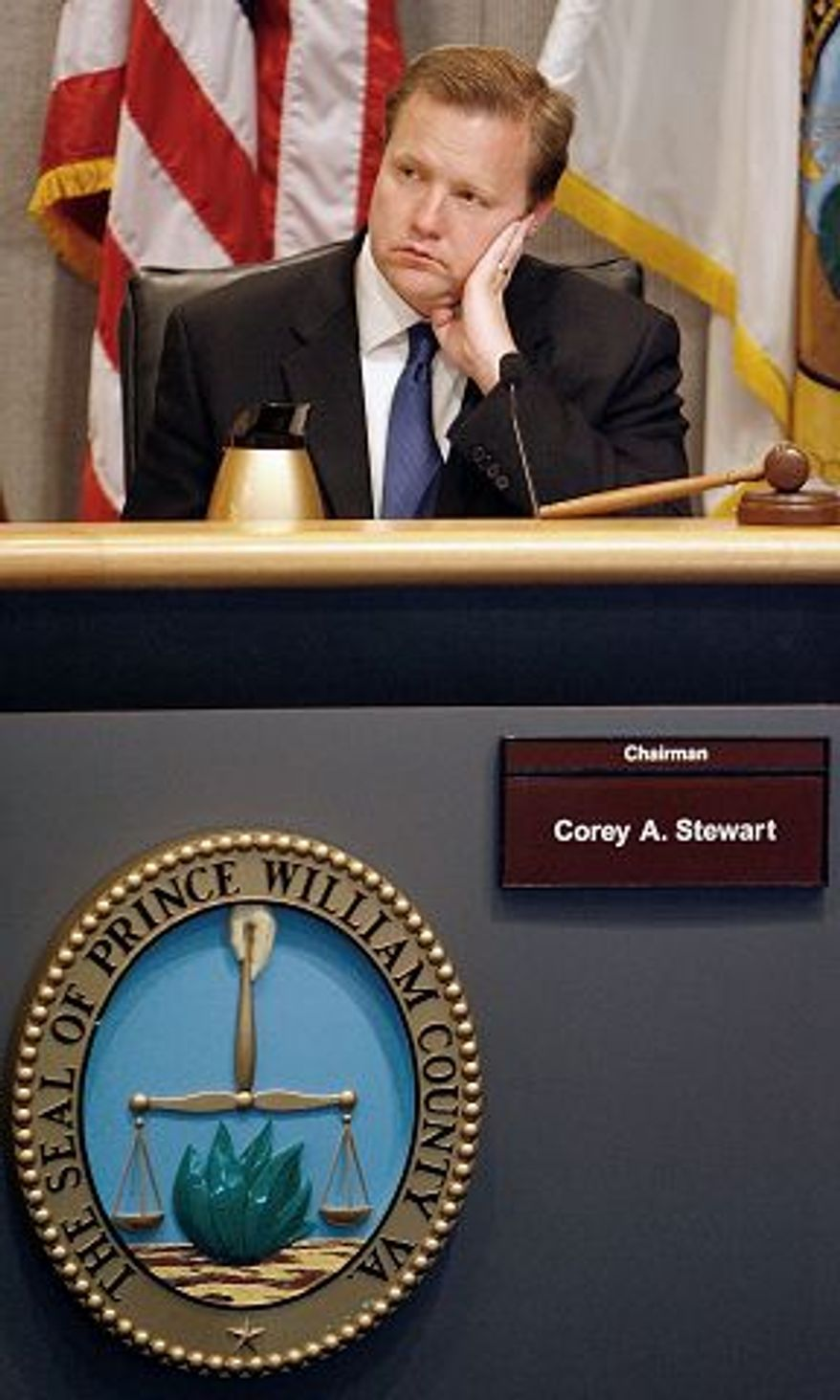 **FILE** Prince William Board of County Supervisors Chairman Corey A. Stewart