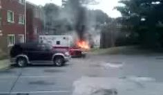 Ambulance fire
