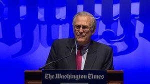 The Washington Times 30th Anniversary Gala - Keynote Speaker: Donald Rumsfeld